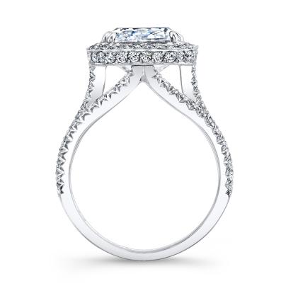Trellis Halo Engagement Rings