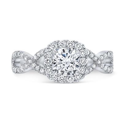Knots Split Shank Engagement Rings