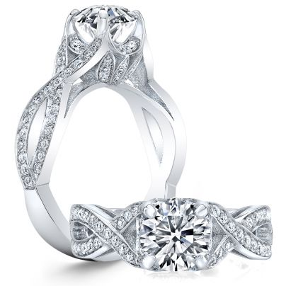 Split Shank Pear cut Engagement Rings