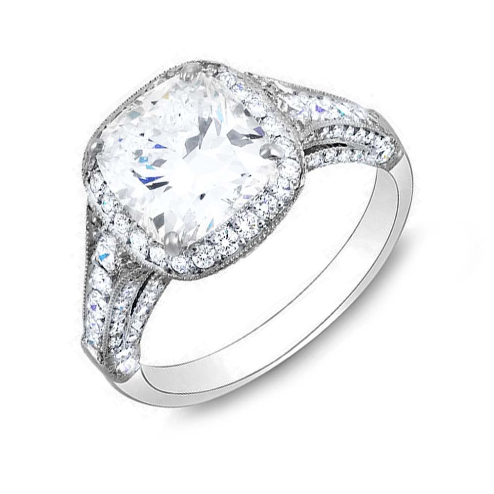 Cushion Cut Diamond Best Settings For Cushion Cut Diamond