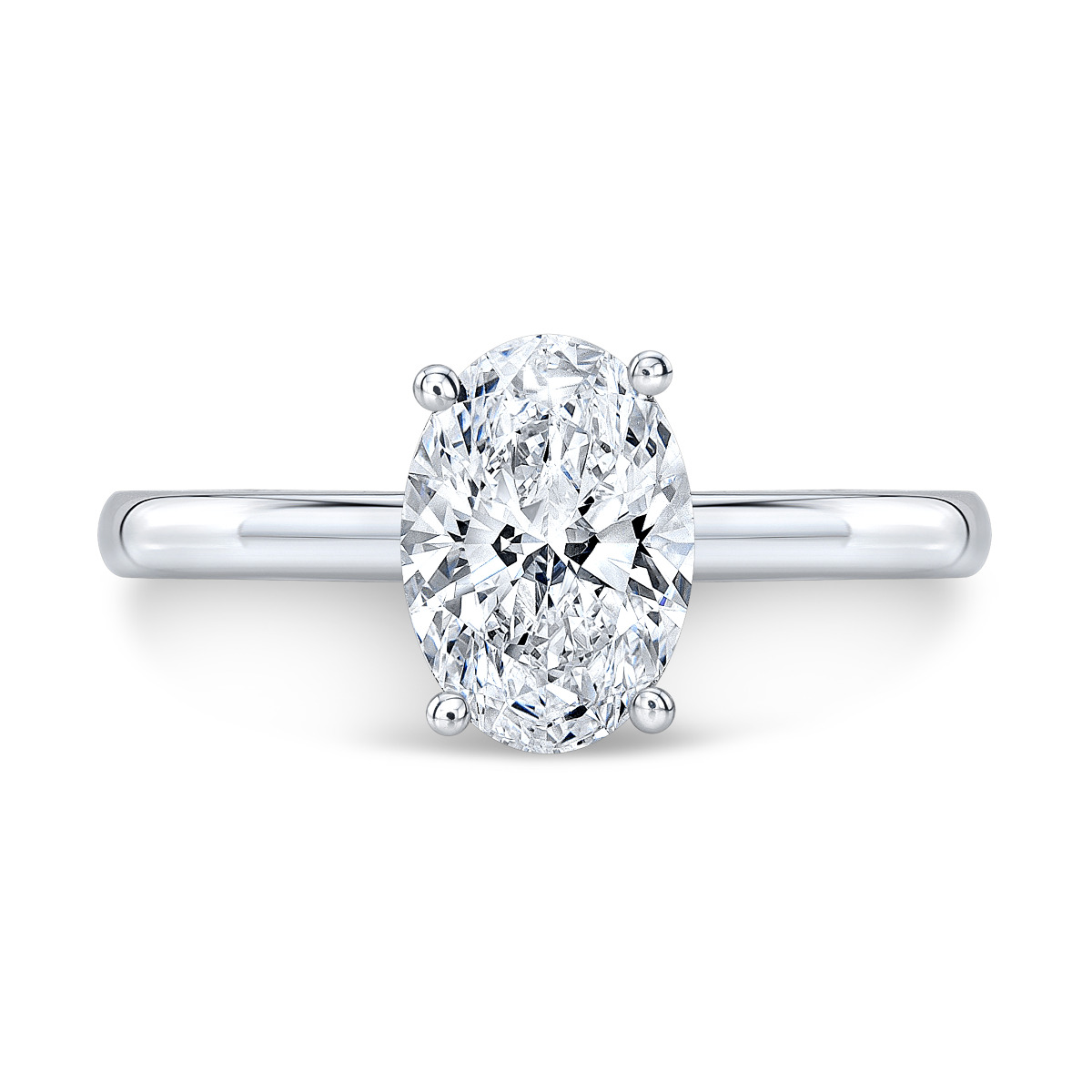 Solitaire Diamond Prongs Engagement Ring