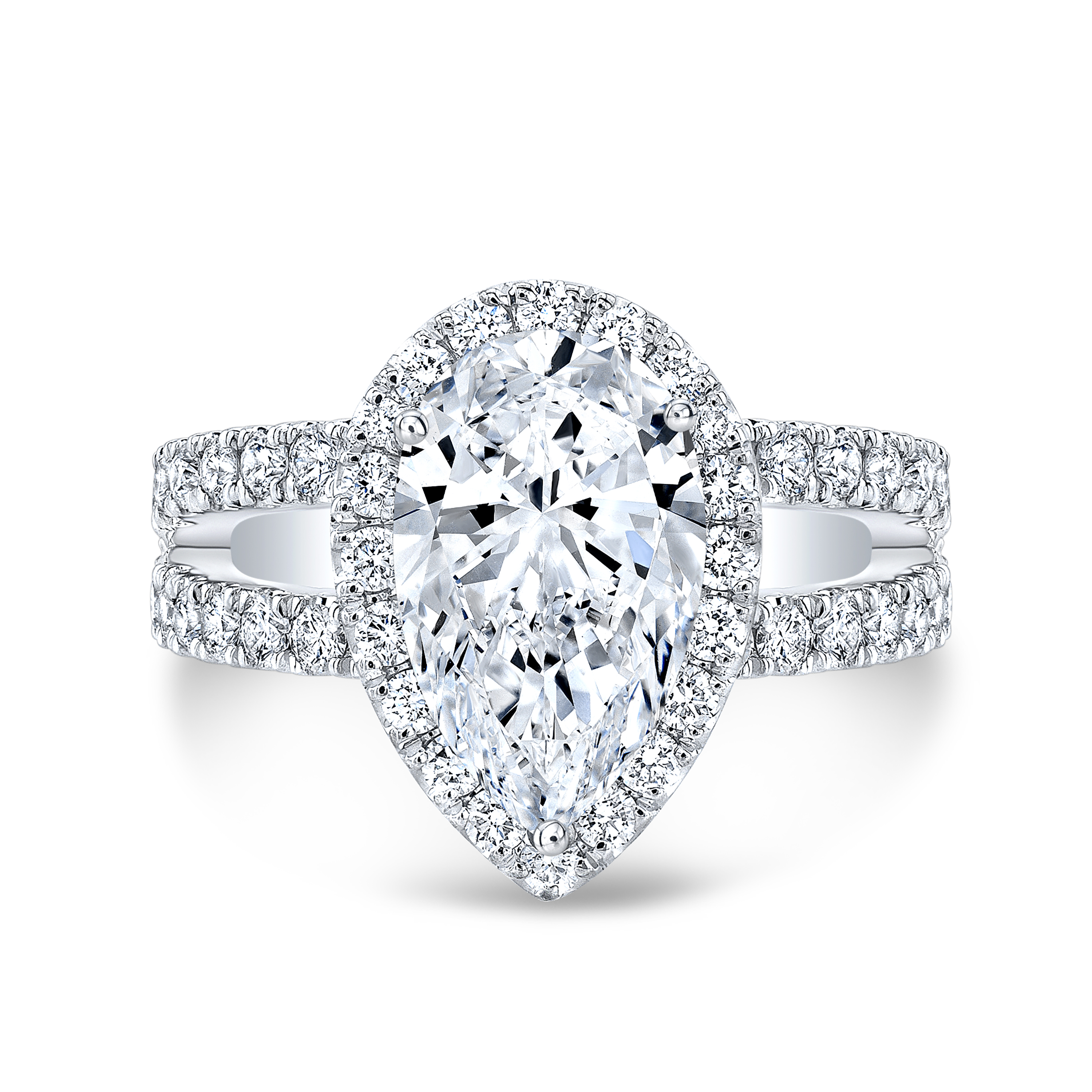 Stylish Pear cut Engagement Rings