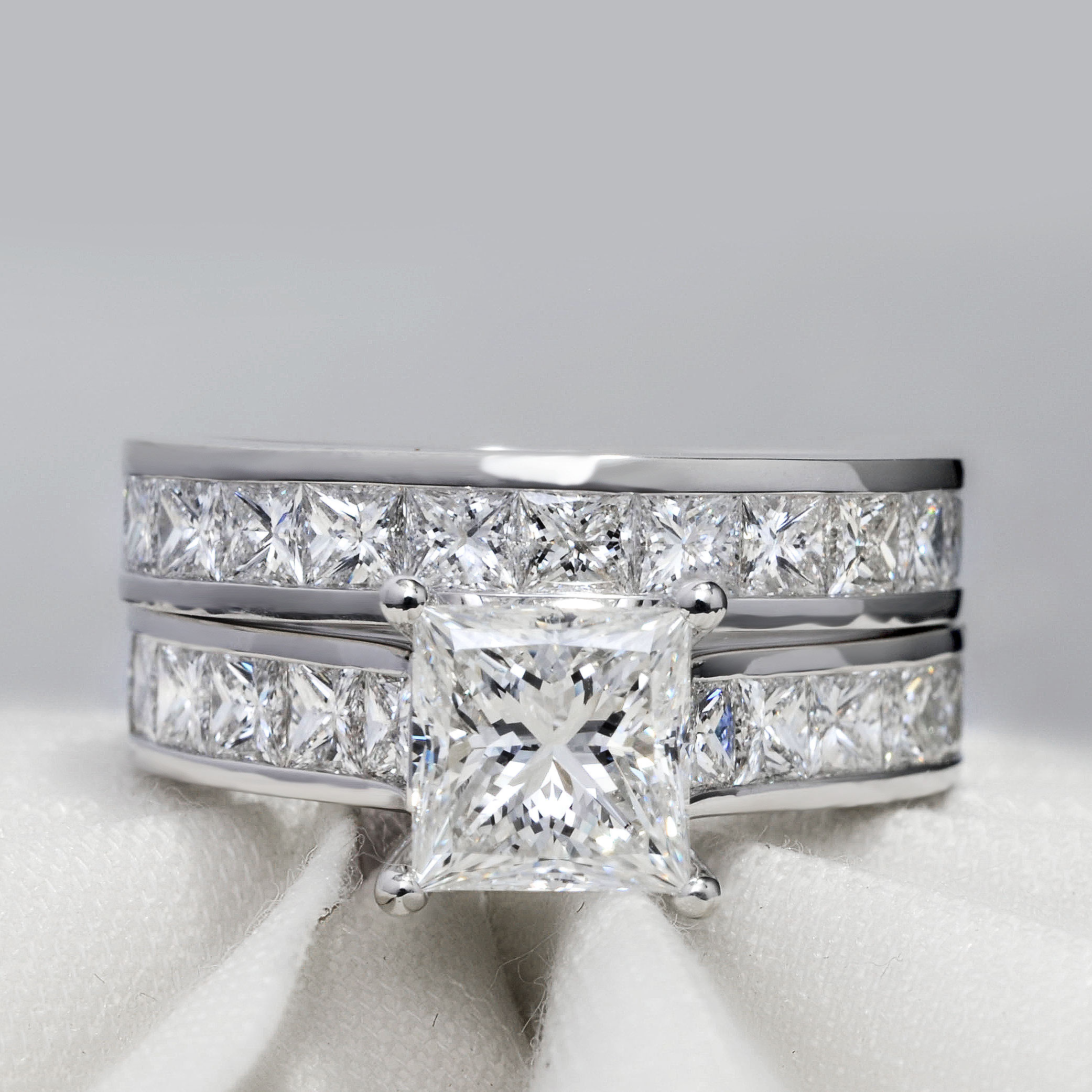 Natural Channel Set Diamond Engagement Ring