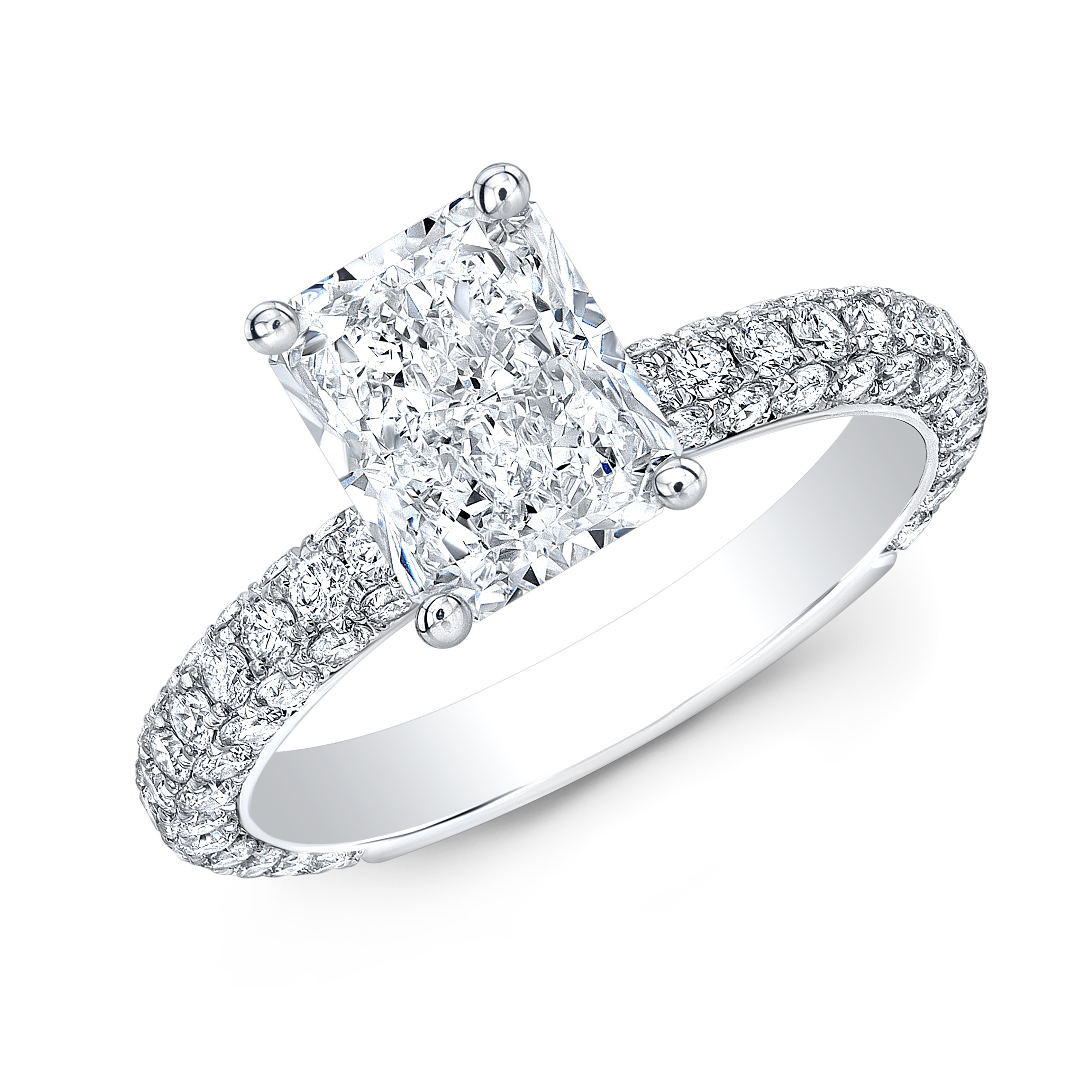 Classic Pave Engagement Rings