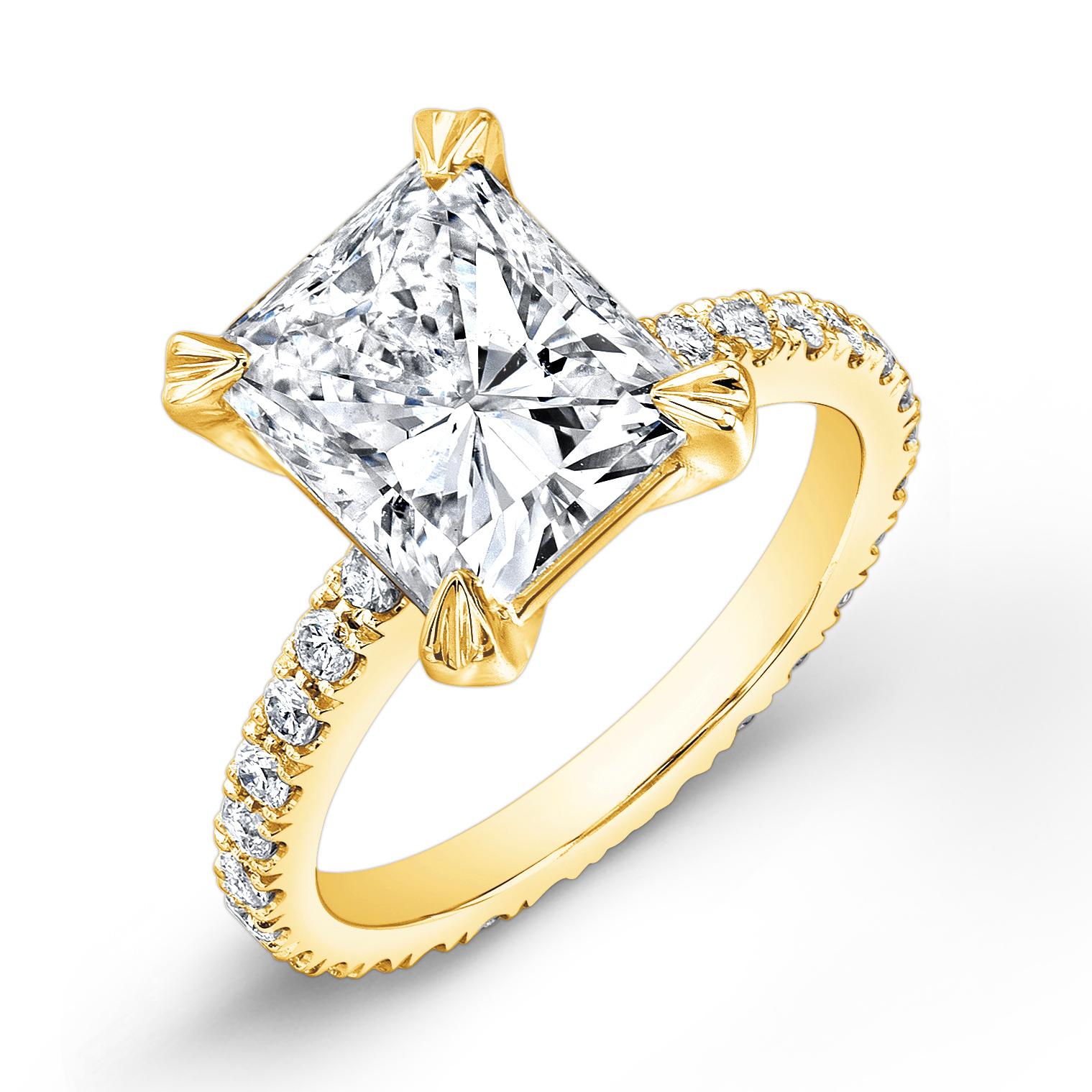 U-Pave Eternity Diamond Engagement Ring