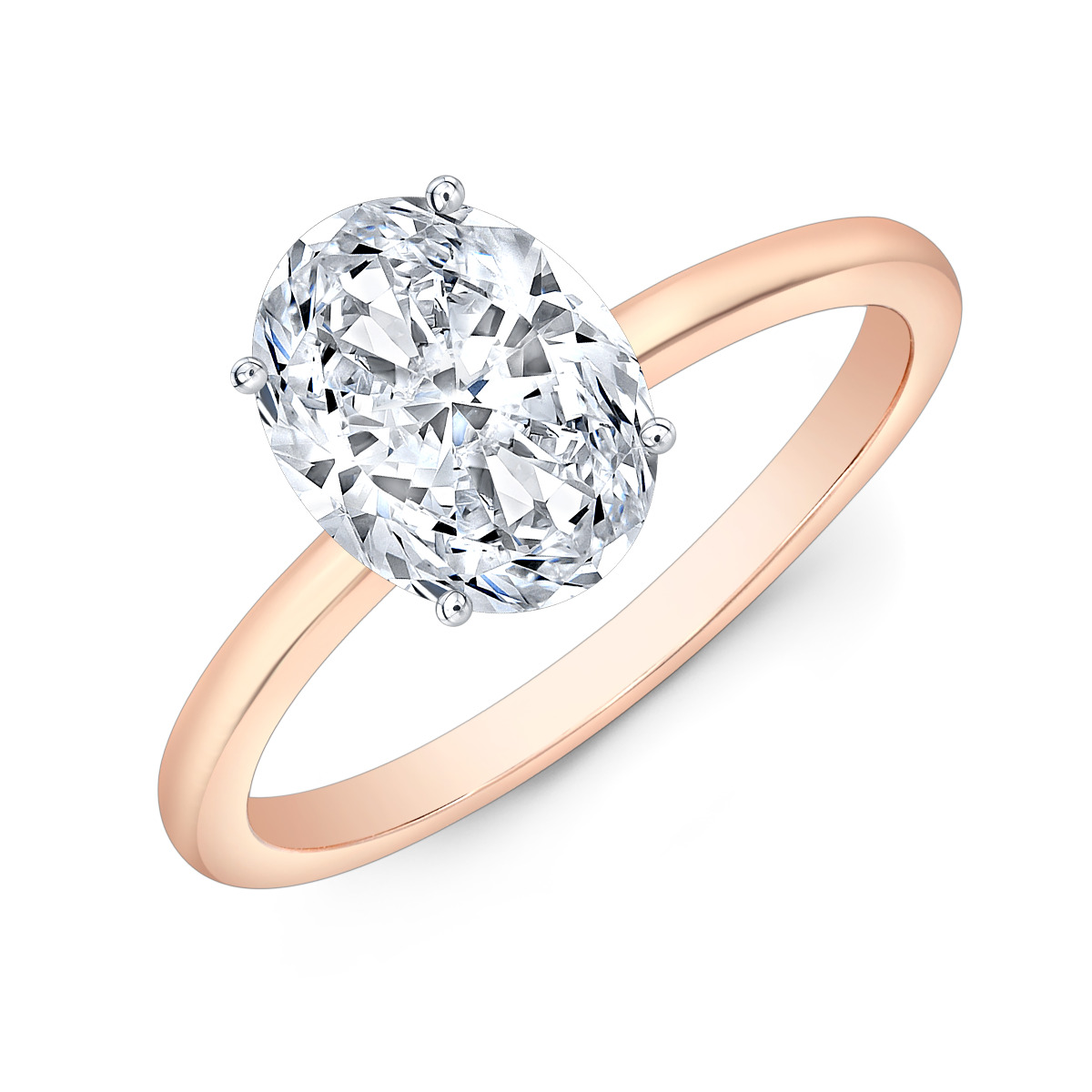 Thin Solitaire Diamond Engagement Ring