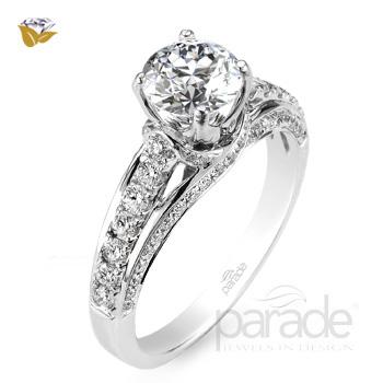 Parade Design Hemera Bridal Side Profile Pave Engagement Ring