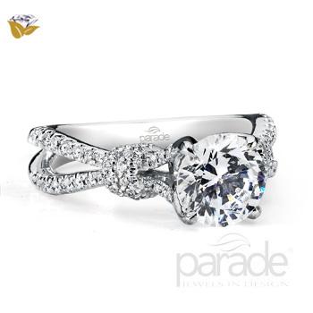 Parade Design Hemera Bridal Twist Split Shank Shoulder Pave