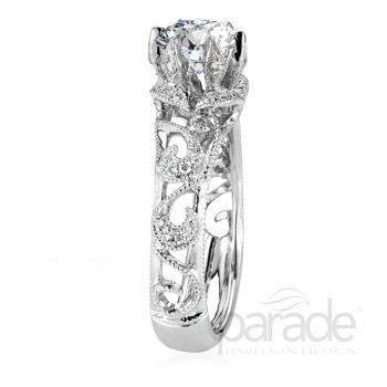 Parade Design Hera Bridal Scrolls & Petals Design Diamond Ring