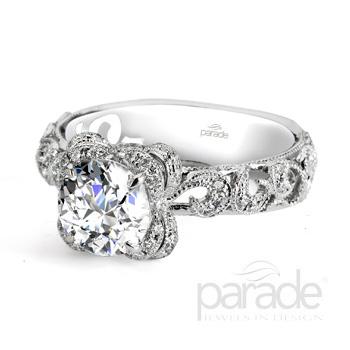 Parade Design Hera Bridal Vintage Floral Design Diamond Ring