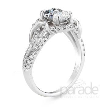 Romantic Split Shank Pave Design Lyria Bridal R2953/O1