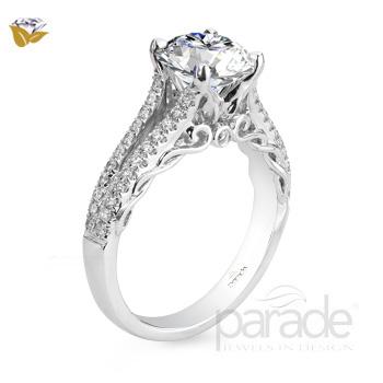 Parade Design Hemera Bridal Scroll Detail Split Shank Ring