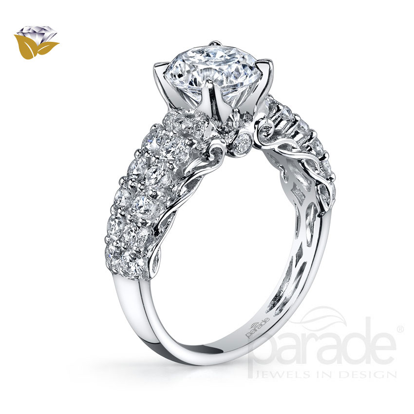 Parade Design Hemera Bridal Twisted Pave Design Engagement Ring