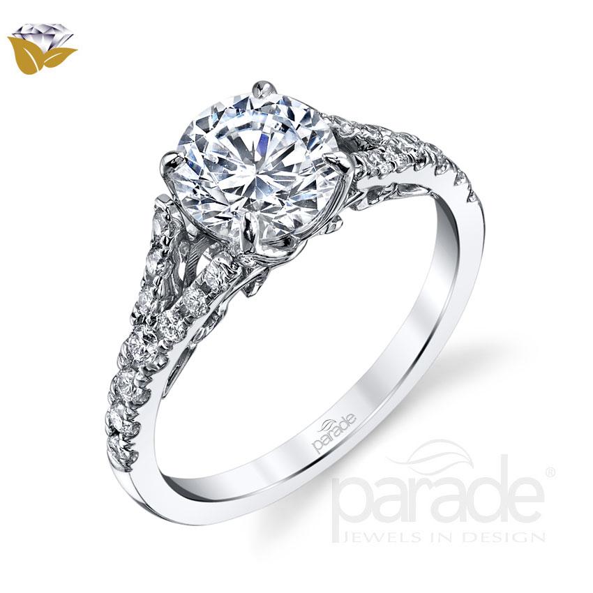 Parade Design Hemera Bridal Split Shank Pave Ring