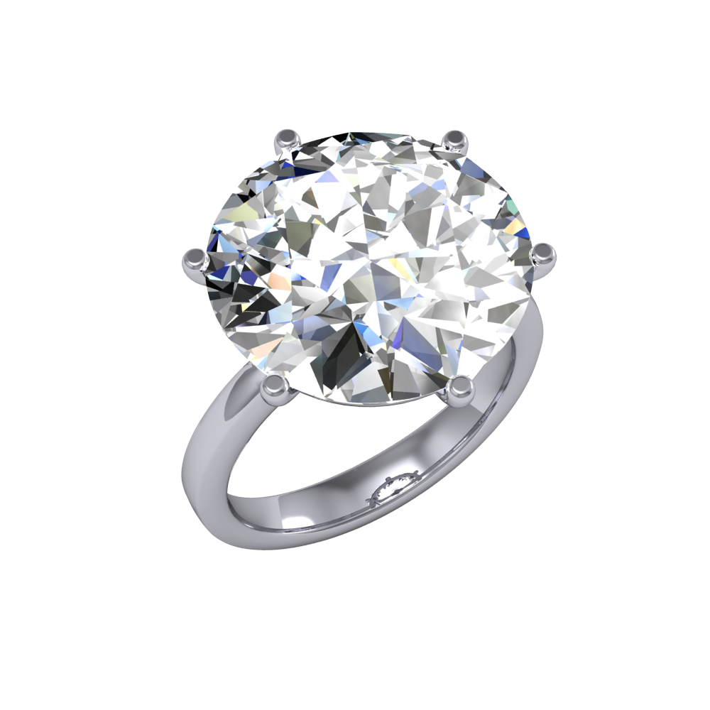 10ct Stunning Natural Round Solitaire Huge Diamond Engagement Ring SI1 I GIA