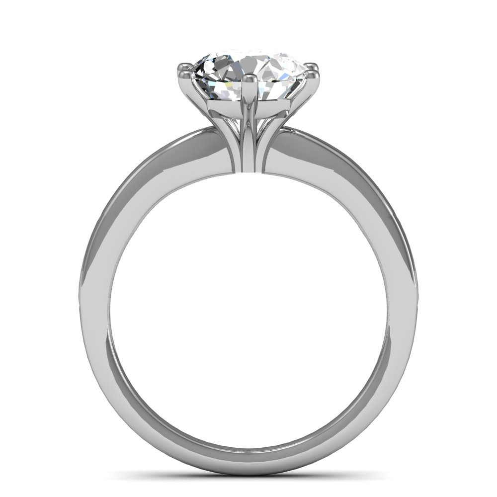 2mm Comfort Fit Shank Solitaire Natural Diamond Engagement Ring