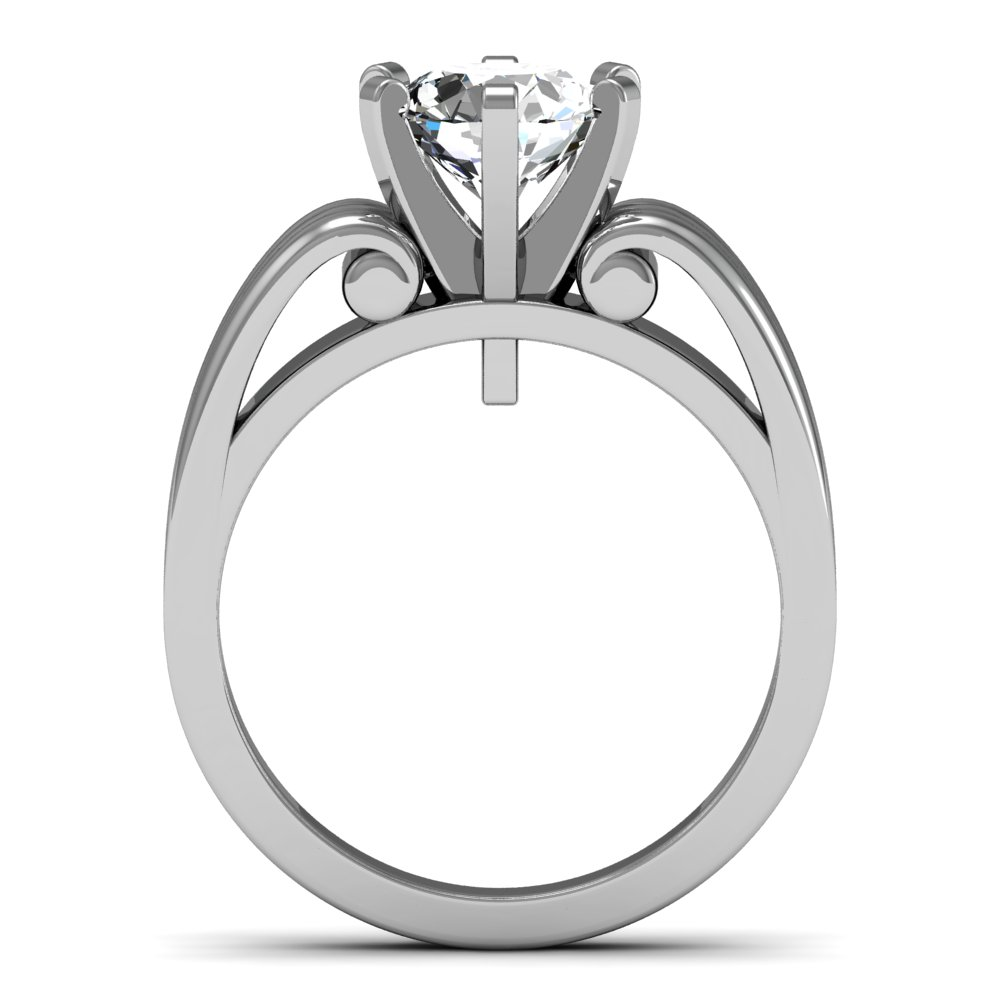 7mm UK Design Solitaire Natural Diamond Engagement Ring