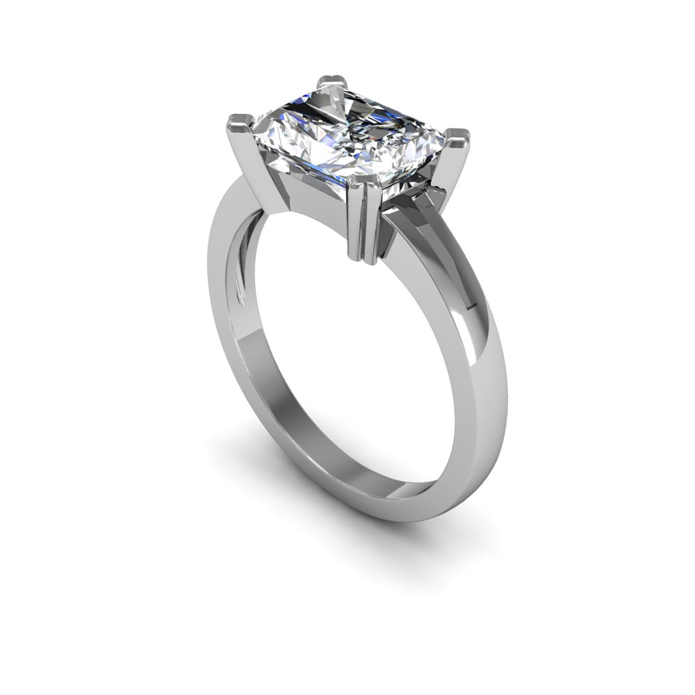 4mm Classic Design Solitaire Natural Diamond Engagement Ring