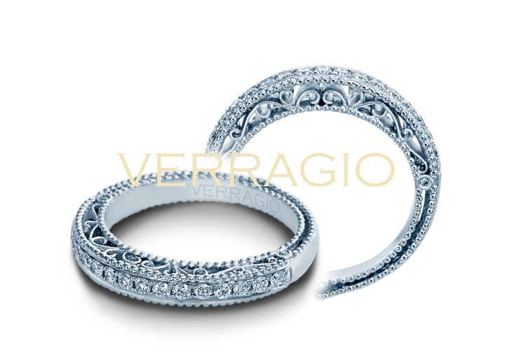 Verragio Vintage Designer Engagement Ring Pave Venetian