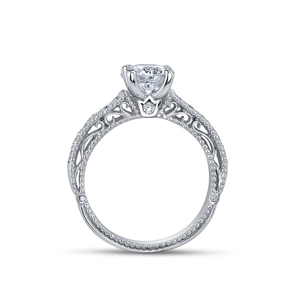 Designer Verragio Venetian Diamond Vintage Engagement Ring