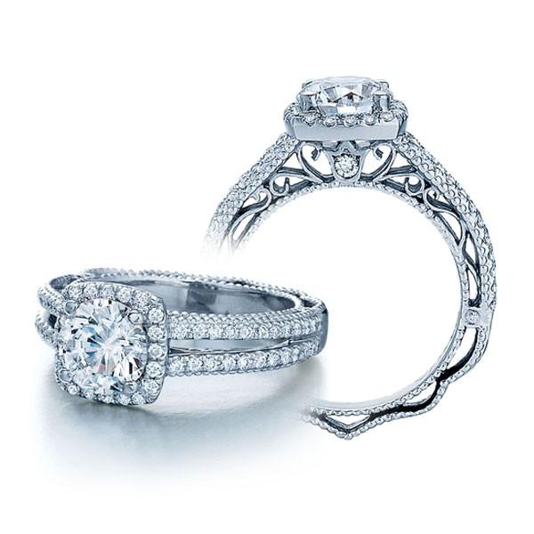 Halo Venetian Pave Vintage Veraggio Engagement Ring