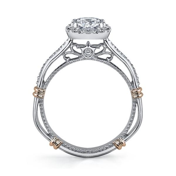 Verragio Parisian Halo Pave Designer Engagement Ring