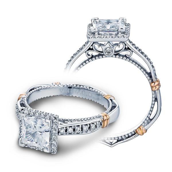Verragio Parisian Pave Halo Designer Engagement Ring