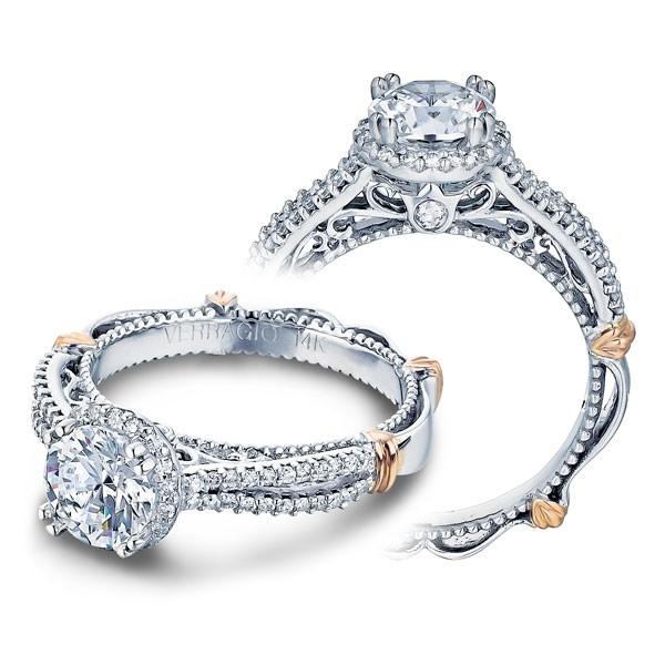 Verragio Parisian Halo Filigree Split Shank Designer Engagement Ring