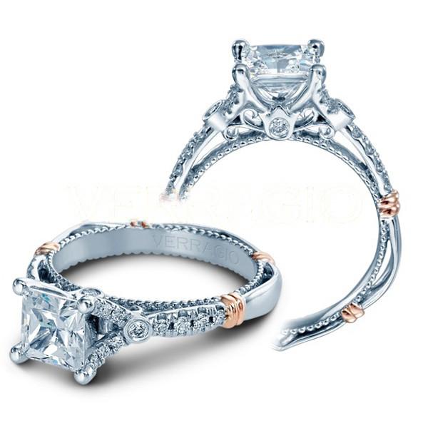 Verragio Parisian Split Pronged Pave Designer Engagement Ring