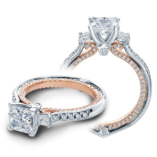 Verragio Couture Princess Sidestones Designer Engagement Ring
