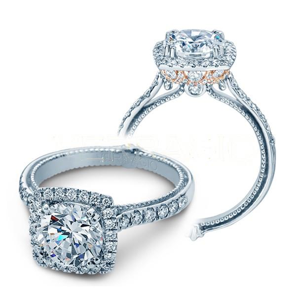 Verragio Halo Couture Pave Designer Engagement Ring