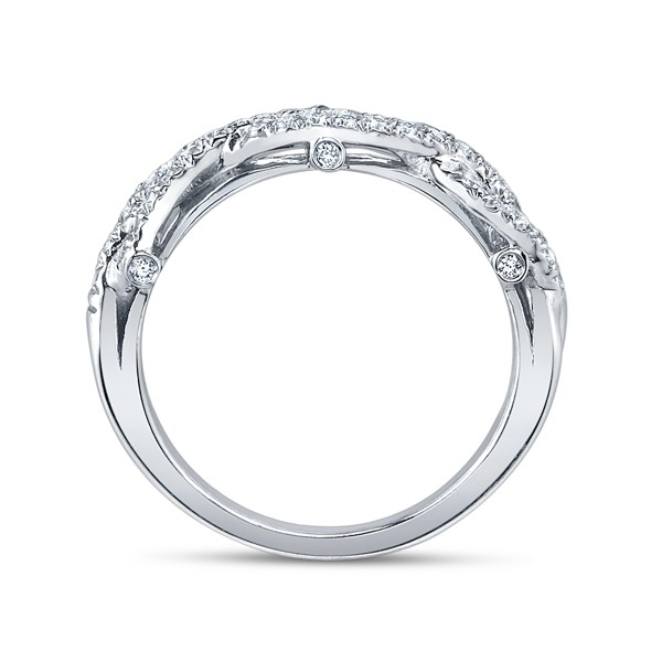 Infinity Pave Insignia Verragio Vintage Natural Diamond Bridal Set