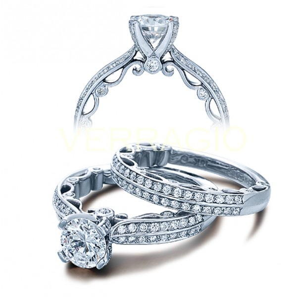 Verragio Paradiso Double Row Pave Designer Engagement Ring