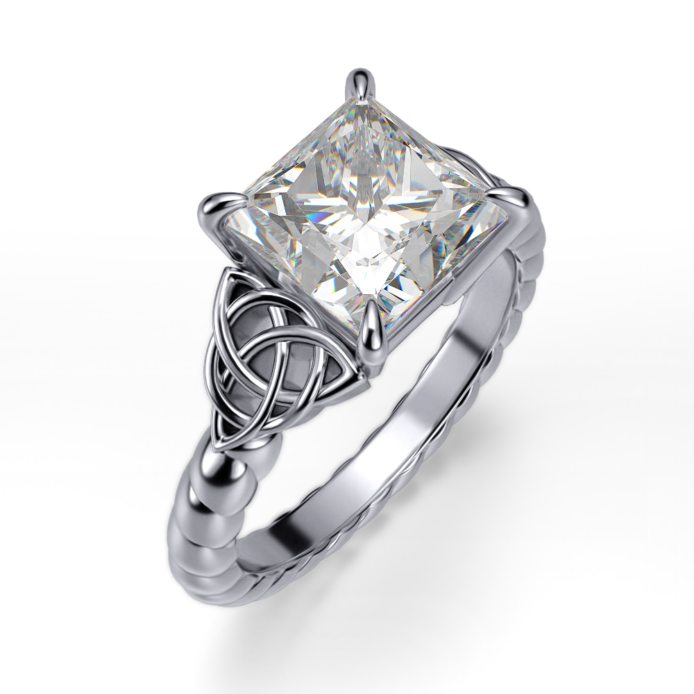 Celtic Knot Rope Design Engagement Ring